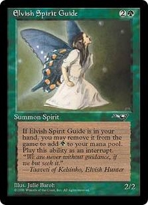 Magic the Gathering Alliances Single Card Uncommon Elvish Spirit Guide