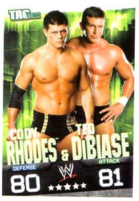WWE Topps Wrestling Trading Cards Slam Attax Evolution Single Tag Team Base Card Cody Rhodes & Ted DiBiase