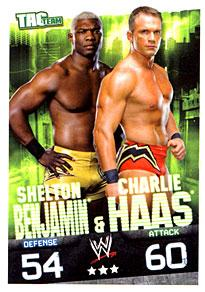WWE Topps Wrestling Trading Cards Slam Attax Evolution Single Tag Team Base Card Shelton Benjamin & Charlie Haas