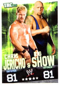 WWE Topps Wrestling Trading Cards Slam Attax Evolution Single Tag Team Base Card Chris Jericho & Big Show