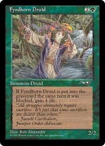 Magic the Gathering Alliances Single Card Common Fyndhorn Druid [Random Artwork]