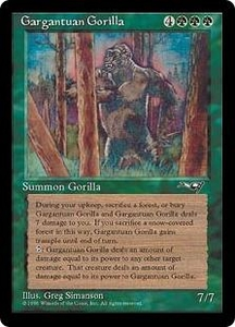 Magic the Gathering Alliances Single Card Rare Gargantuan Gorilla Played Condition
