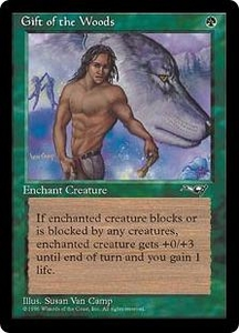 Magic the Gathering Alliances Single Card Common Gift of the Woods [Random Artwork]