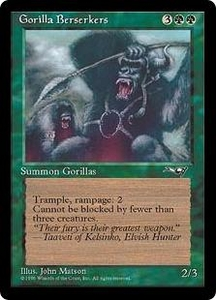 Magic the Gathering Alliances Single Card Common Gorilla Berserkers [Random Artwork]