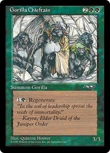 Magic the Gathering Alliances Single Card Common Gorilla Chieftain [Random Artwork]