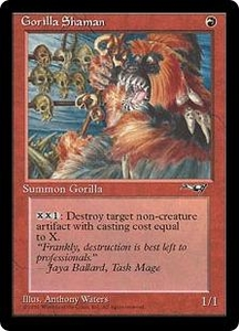 Magic the Gathering Alliances Single Card Common Gorilla Shaman [Random Artwork]