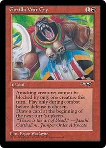 Magic the Gathering Alliances Single Card Common Gorilla War Cry [Random Artwork]