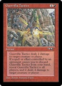 Magic the Gathering Alliances Single Card Common Guerrilla Tactics [Random Artwork]