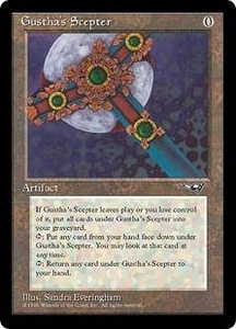 Magic the Gathering Alliances Single Card Rare Gustha's Scepter
