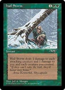 Magic the Gathering Alliances Single Card Uncommon Hail Storm