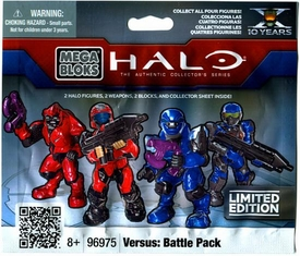 Halo Mega Bloks #96975 Versus: Battle Pack Minifigure Mystery Pack [2 RANDOM Mini Figures]