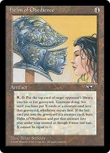 Magic the Gathering Alliances Single Card Rare Helm of Obedience