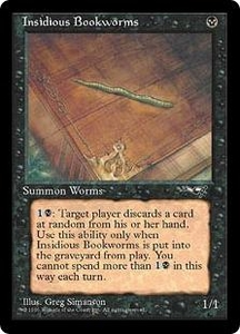 Magic the Gathering Alliances Single Card Common Insidious Bookworms [Random Artwork]