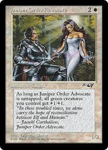 Magic the Gathering Alliances Single Card Uncommon Juniper Order Advocate