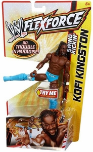 Mattel WWE Wrestling FlexForce Swing Kickin' Kofi Kingston