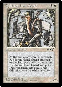 Magic the Gathering Alliances Single Card Uncommon Kjeldoran Home Guard