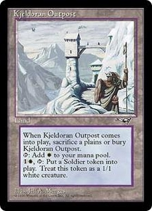 Magic the Gathering Alliances Single Card Rare Kjeldoran Outpost