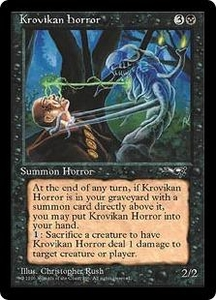Magic the Gathering Alliances Single Card Rare Krovikan Horror