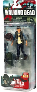 McFarlane Toys Walking Dead TV Series 4 Action Figure Carl Grimes [Hat, Prison Keys & Medical Bag]