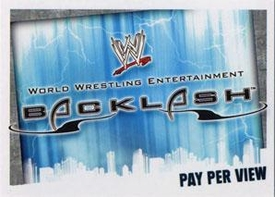 WWE Topps Wrestling Trading Cards Slam Attax Evolution Single Pay Per View Base Card Backlash