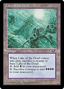 Magic the Gathering Alliances Single Card Rare Lake of the Dead