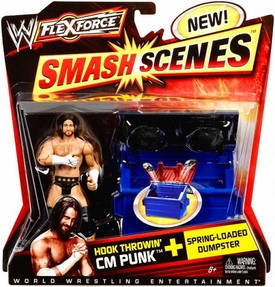 Mattel WWE Wrestling FlexForce Smash Scenes Hook Throwin' CM Punk Best in the World!