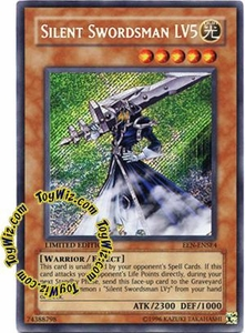 YuGiOh Elemental Energy Special Edition Promo Single Card Secret Rare EEN-ENSE4 Silent Swordsman LV5