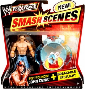 Mattel WWE Wrestling FlexForce Smash Scenes  Fist Poundin John Cena