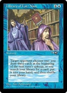 Magic the Gathering Alliances Single Card Rare Library of Lat-Nam