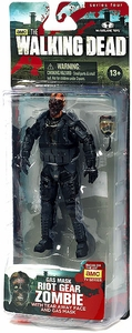 McFarlane Toys Walking Dead TV Series 4 Action Figure Gas Mask Zombie [Tear Away Face & Gas Mask]