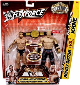 Mattel WWE Wrestling Exclusive FlexForce Champions Action Figure 2-Pack Flip Kickin Randy Orton VS. Fist Poundin' Kane BLOWOUT SALE!