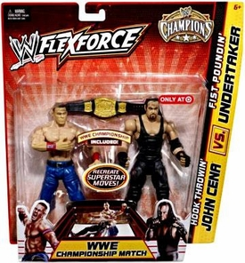 Mattel WWE Wrestling Exclusive FlexForce Champions Action Figure 2-Pack Hook Throwin' John Cena VS. Fist Poundin' Undertaker BLOWOUT SALE!