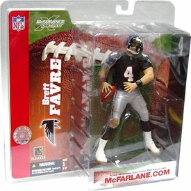 McFarlane Toys NFL Sports Picks Series 6 Action Figure Brett Favre (Atlanta Falcons) Retro Black Jersey Without Handwarmers