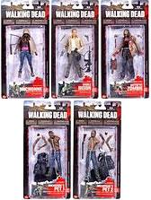 McFarlane Toys Walking Dead TV Series 3 Set of 5 Action Figures [Michonne, Merle Dixon & 3x Zombies]