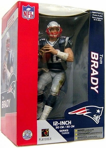 McFarlane Toys NFL Sports Picks 12 Inch Deluxe Action Figure Tom Brady (New England Patriots) Blue Jersey
