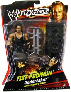 Mattel WWE Wrestling FlexForce Series 1 Fist Poundin' Action Figure Undertaker with Speaker & Tower