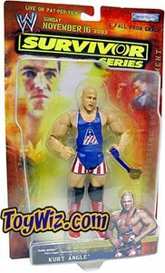 WWE Jakks Pacific Wrestling Survivor Series 2003 Action Figure Kurt Angle