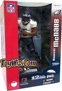 McFarlane Toys NFL Sports Picks Exclusive Deluxe 12 Inch Action Figure Donovan McNabb (Phiadelphia Eagles) White Jersey Variant