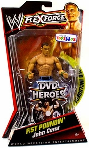 Mattel WWE Wrestling FlexForce Exclusive DVD Heroes Series 1 Fist Poundin' John Cena BLOWOUT SALE!