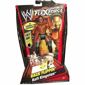 Mattel WWE Wrestling FlexForce Series 1 Back Flippin' Action Figure Kofi Kingston