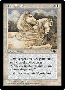 Magic the Gathering Alliances Single Card Common Noble Steeds [Random Artwork]