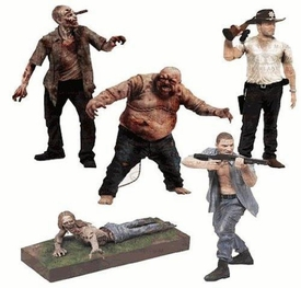 McFarlane Toys Walking Dead TV Series 2 Set of 5 Action Figures [Shane, Rick Grimes, Well, RV & Bicycle Girl Zombies]
