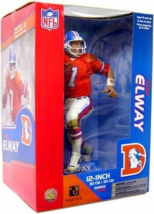 McFarlane Toys NFL Sports Picks 12 Inch Deluxe Action Figure John Elway (Denver Broncos) Orange Jersey
