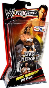 Mattel WWE Wrestling FlexForce Exclusive DVD Heroes Series 2 Hook Throwin CM Punk Best in the World!