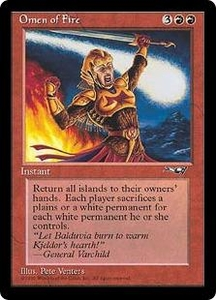 Magic the Gathering Alliances Single Card Rare Omen of Fire
