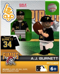 OYO Baseball MLB Generation 2 Building Brick Minifigure A.J. Burnett [Pittsburgh Pirates]