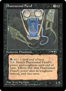 Magic the Gathering Alliances Single Card Common Phantasmal Fiend [Random Artwork]