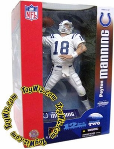 McFarlane Toys NFL Sports Picks Exclusive 12 Inch Deluxe Action Figure Peyton Manning (Indianapolis Colts) White Jersey Variant