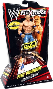 Mattel WWE Wrestling FlexForce Fist Poundin Action Figure John Cena [Jean Shorts Blue Armbands]