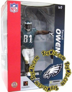 McFarlane Toys NFL Sports Picks Deluxe 12 Inch Action Figure Terrell Owens (Philadelphia Eagles) Green Jersey
